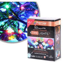 50 M-A B-O Multi-colour LED Lights With Timer