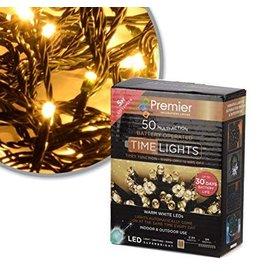 Premier 50 M-A B-O Warm White LED Lights With Timer