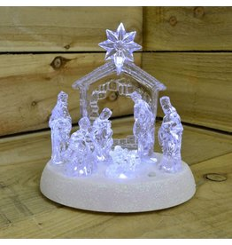 20cm Led Nativity with Music