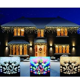 720 LED Icicles Nite Lights Remote White W-Speed Ctrl