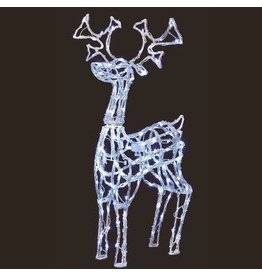 1M Acrylic Standing Reindeer with 160 White Leds