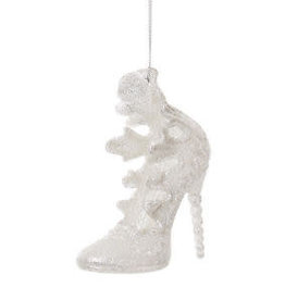 11cm Frilly Silver Glitter Shoe