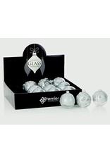 80mm 3 Asst Silver Clear Dec Glass Ball in CDU