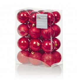 24 x 60mm Red Multi Finish Balls
