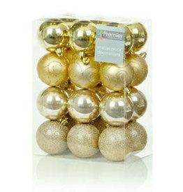 24 x 60mm Champagne Gold Multi Finish Balls
