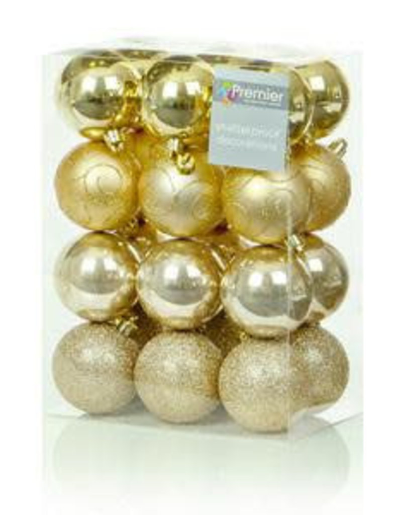 24 x 60mm Champagne Gold Multi Finish Balls