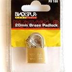 Blackspur BLACKSPUR 20MM BRASS LUGGAGE PADLOCK