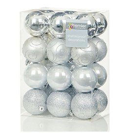 24 x 60mm Silver Multi Finish Balls