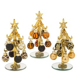 DECORATED PURE GOLD AND BLACK TREE ASSORTED DESIGNS