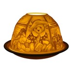 Light Glow Light Glow Tealight Candle Holder 3 Inches - Teddy