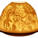 Light Glow Light Glow Tealight Candle Holder 3 Inches - Best friends (Dogs)