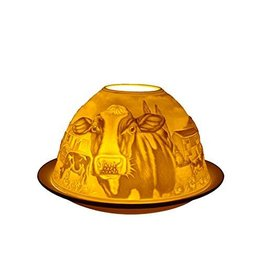 Light Glow Light Glow Tealight Candle Holder 3 Inches - Cows