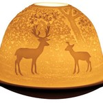 Light Glow Light Glow Tealight Candle Holder 3 Inches - Forest Deer