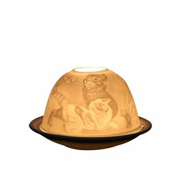 Light Glow Light Glow Tealight Candle Holder 3 Inches - Playful Cats