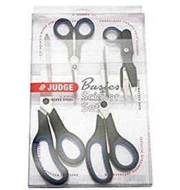 Judge Judge Basics 4 Piece Scissor Set Sewing Embroidery Kitchen Household PP445