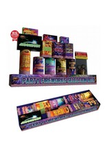 PARTY FIREWORKS SELECTION BOX - 14 VARIETIES (LICENCE FREE)