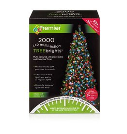 2000 M-A Led TreeBrights Timer Multi colour