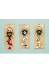 35cm Bell Door Hanger 3 Asst - Red-Gold-Silver