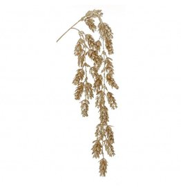 Gold Glitter Pine Cone Spray 69cm
