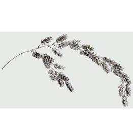 Silver Glitter Pine Cone Spray 69cm