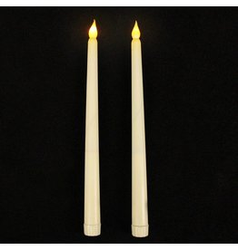 Set of 2 Flickering LED Taper Candle