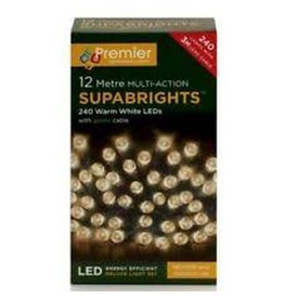 PREMIER 100 LED STATIC INDOOR-O-D SUPA BRIGHTS WARM WHITE 5CM+3M