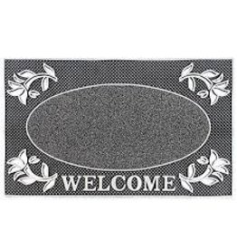 JVL JVL WELCOME RECTANGULAR PVC PIN MAT 45X75CM DOOR MAT - SILVER
