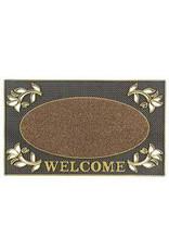JVL JVL WELCOME RECTANGULAR PVC PIN MAT 45X75CM DOOR MAT - GOLD