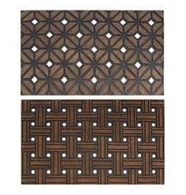 JVL JVL SIENNA WEAVE RUBBER MAT 45X75CM DOOR MAT - DIAMOND