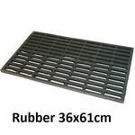 JVL JVL ROBUSTA RUBBER DOORMAT 36X61CM