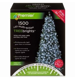 Premier 1500 M-A Led TreeBrights Timer White