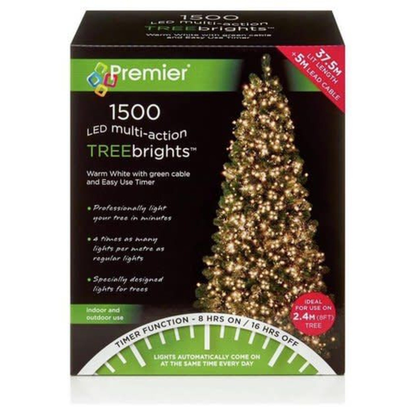 1500 M-A Led TreeBrights Timer Warm white