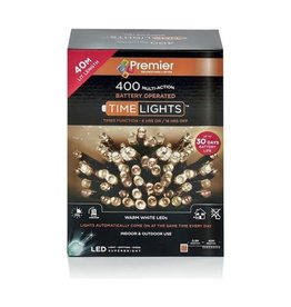 PREMIER 400 M-A BATTERY WARM WHITE LED LIGHTS WITH TIMER
