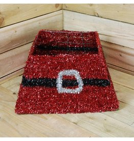 PREMIER RED TINSEL TREE SKIRT 50CM X 32CM