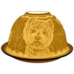 Light Glow Light Glow Tealight Candle Holder 3 Inches - Westie Dogs