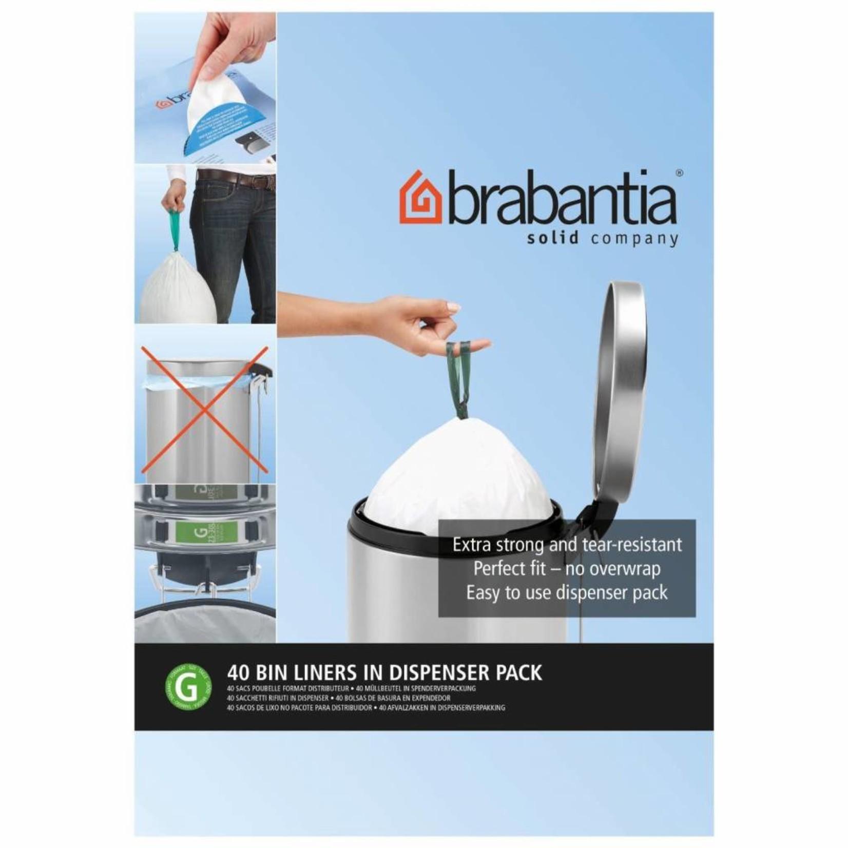 Brabantia BRABANTIA PERFECT FIT BAGS G, 23-30L [DISPENSER PACK 40 BAGS]