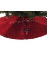 90cm Tartan Reindeer Tree Skirt