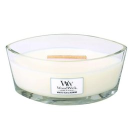 Woodwick WOODWICK WHITE TEA & JASMINE HEARTHWICK CANDLE