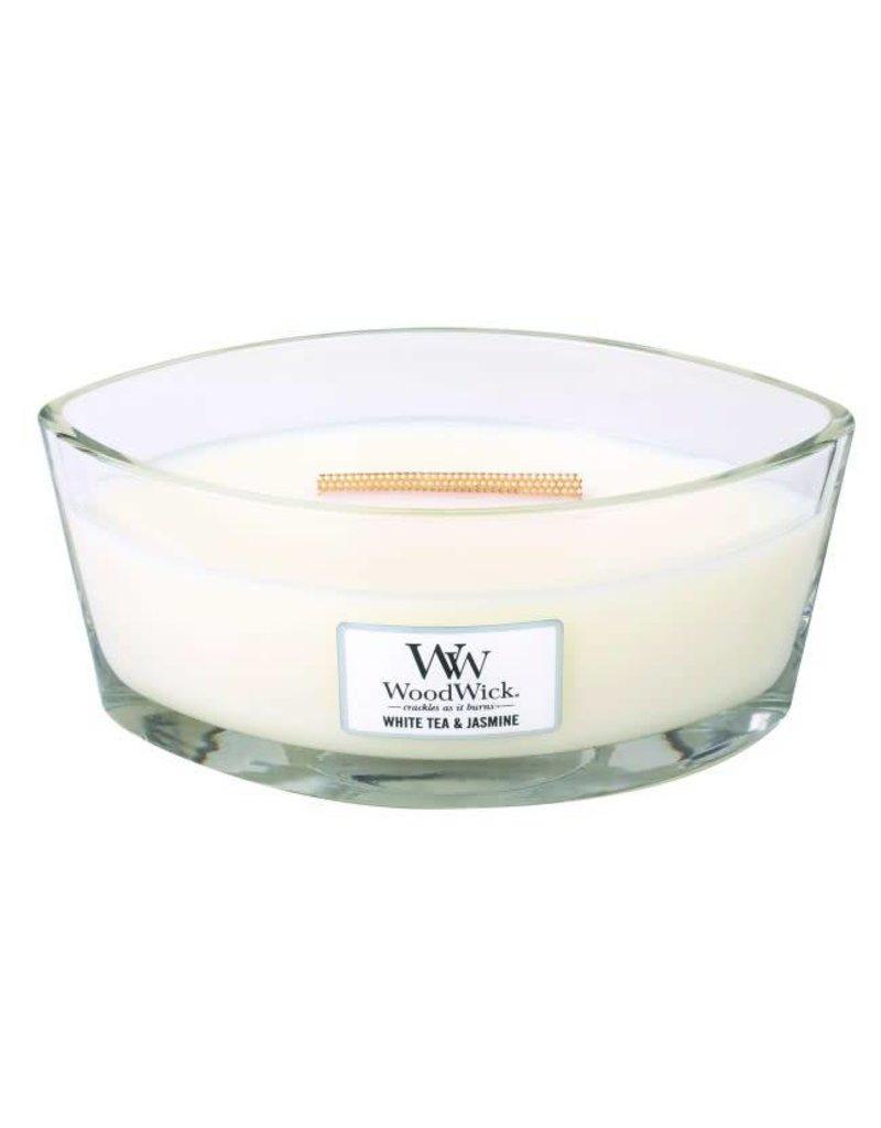 Woodwick WOODWICK WHITE TEA & JASMINE HEARTHWICK CANDLE