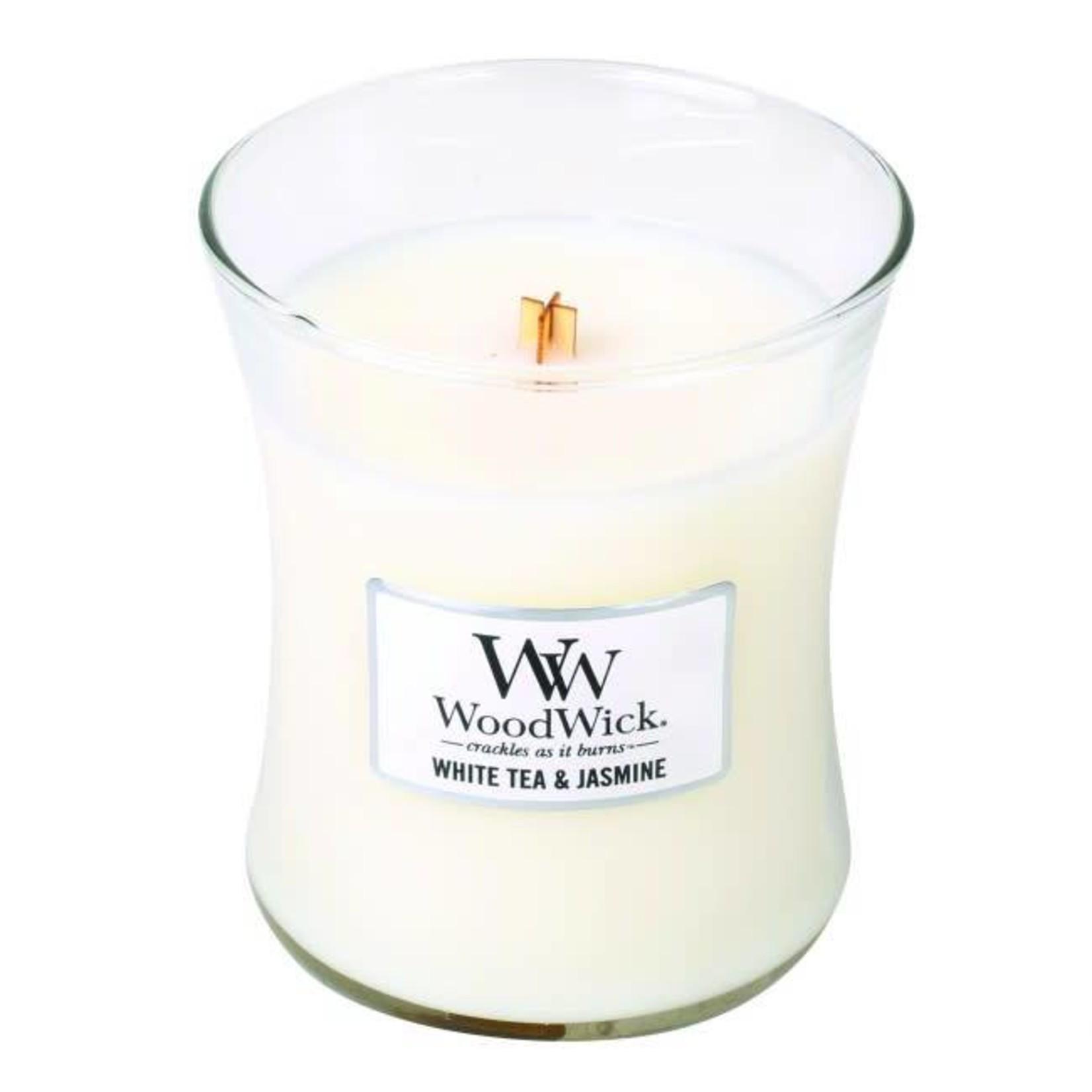 Woodwick WOODWICK WHITE TEA & JASMINE MEDIUM CANDLE