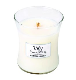 Woodwick WOODWICK WHITE TEA & JASMINE MEDIUM CANDLE