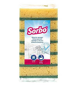 SORBO 6PK LARGE TRADITIONAL SPONGE SCOURERS