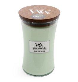 Woodwick WOODWICK SWEET LIME GELATO LARGE CANDLE