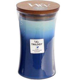 Woodwick WOODWICK CLOTHESLINE FRESH - LARGE JAR (LINEN. COTTON FLOWER. CASHMERE)