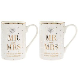 Lesser & Pavey Mad Dots Mr & Mrs Boxed Mug Pair