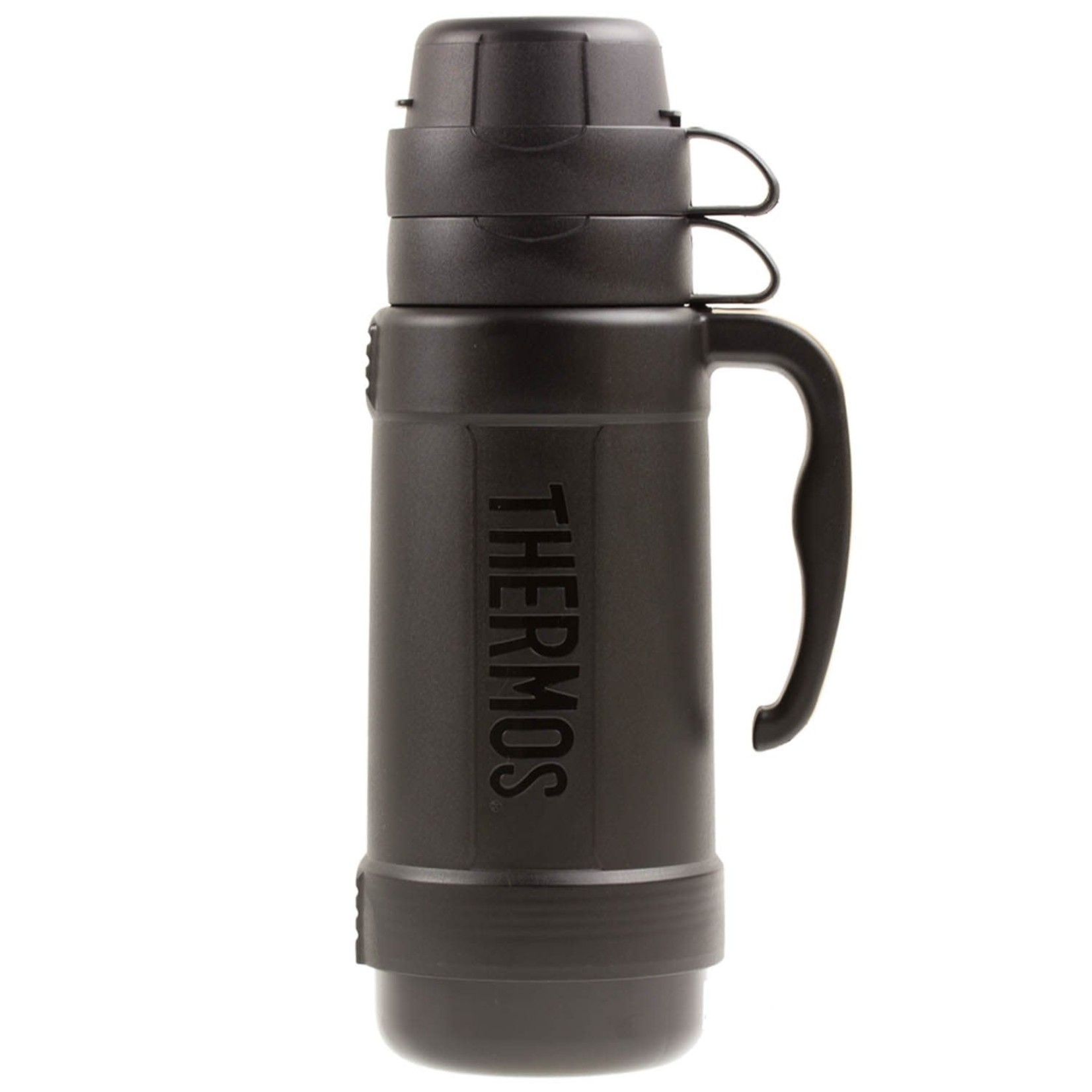 Thermos THERMOS 1 LITRE FLASK WITH SOFT GRIP HANDLE BLACK