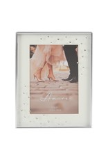 """Amore Silverplated Frame with Crystals 5"""" x 7"""""""