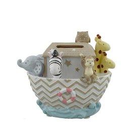 Widdop & Co. Noah's Ark Resin Money Bank - Boat