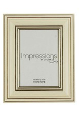 "Impressions Plastic Wood Effect Cream Photo Frame 5"" x 7"" (24)"