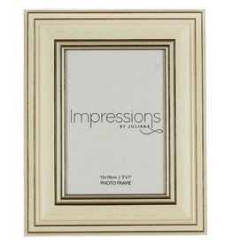 "Impressions Plastic Wood Effect Cream Photo Frame 5"" x 7"" (24)"